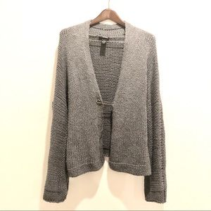 Lane Bryant || Gray Knitted Sweater Open Cardigan